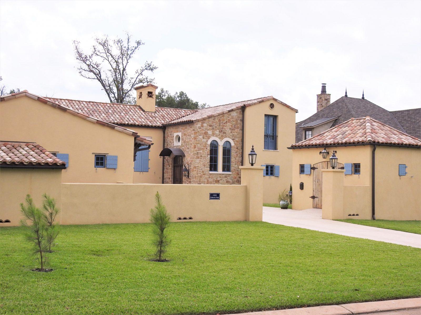 shreveport new home build southwestern style stucco and stone